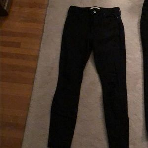 Pacsun high rise black ankle jeggings